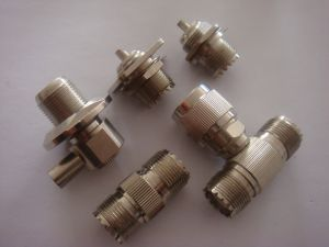 UHF Double Female Connectorsz&Coaxial Connector UHF Male to Double Female T Connector pictures & photos