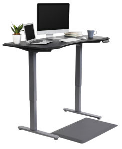 Electric Ergonomic Office Height Adjustable Two Motors Two Segments Lift Standing Desk pictures & photos