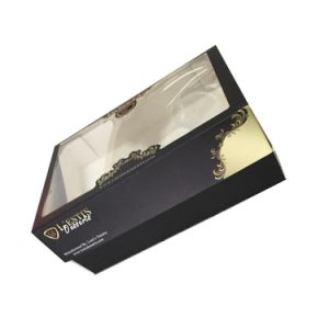 High Quality Chocolate Paper Packaging Box with Clear Window pictures & photos