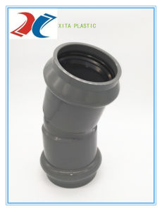 160mm PVC Elbow 90 with Rubber Ring pictures & photos