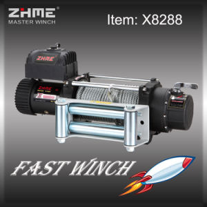 8000lbs Battery Powered Electric 12volt Winch with Wire Rope pictures & photos