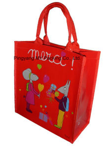 Top Quality Glossy Laminated PP Woven Shopping Tote Bag pictures & photos