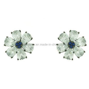 Lady Jewelry Stud Plated Copper Jewellery Flower Ear Stud (KE3119) pictures & photos