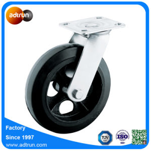 Heavy Duty 8 Inch Industrial Rigid Casters Solid Rubber Wheels pictures & photos
