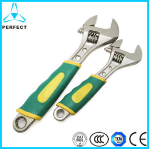 Multi-Function Plastic Handle European Type Adjustable Wrench pictures & photos