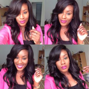 100% Human Virgin Hair Brazilian Hair Body Wave Full Lace Wig pictures & photos