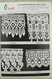 Hot Sale Polyester Water Soluble Lace in Stock Lace pictures & photos