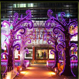 Hot Sales 15*25mm Purple 110V High Brightness Christmas Light Flex Neon Light pictures & photos