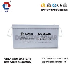12V High Quality 250ah VRLA Deep-Cycle Solar Power Battery pictures & photos