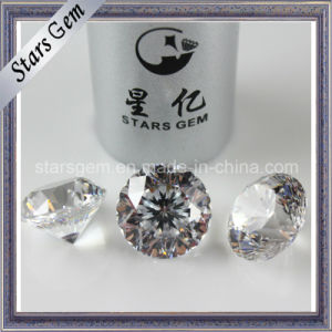 Good Quality White 9hearts1flower Star Cut CZ Stone pictures & photos