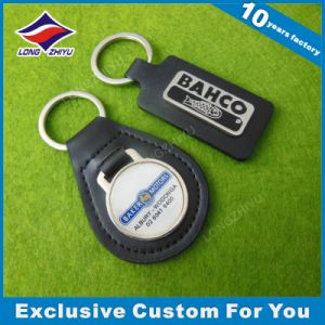 Laser Engrave Logo Stamp Leather Keyring Keychain Promotioinal Gift pictures & photos