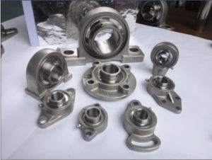 Cast Iron Wide Inner Ring Pillow Block Bearing (F219)