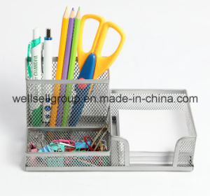 Multifunctionalmetal Mesh Office Pen Holder with Memo Holder pictures & photos
