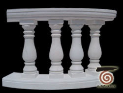 China White Color Granite Stair Baluster Marble Railing Handrail Baluster pictures & photos