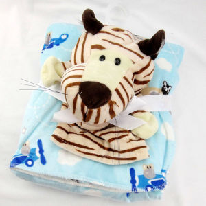 Baby Blanket with Plush Toy -Tiger pictures & photos