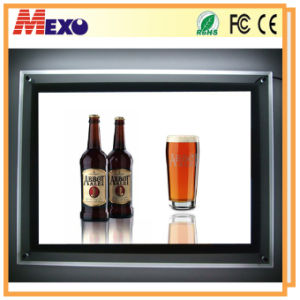 Wall-Mounted Slim Crystal LED Advertising Display Light Box (CSW01-A3L-03) pictures & photos