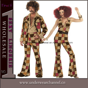 Halloween Adult Hustle Cosplay Party Jumpsuit Hippie Costume (5112) pictures & photos