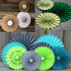 2016 Wedding Decoration Handmade Hanging Paper Fans