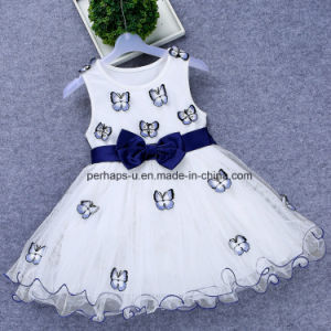 High Quality Flower Girls Sleeveless Lace Dress Children Wear pictures & photos