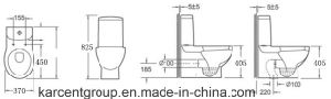 Two Piece Ceramic Toilet Ce Washdown Water Closet 00093 pictures & photos