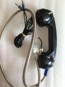 T6/ T9 Rugged Telephone Handset with Armoured Cord / Merallic Hose 3.5mm Jack pictures & photos