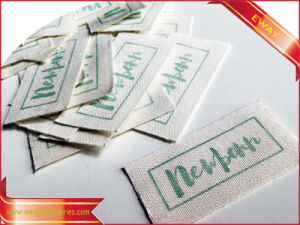 Factory Made Garment Cotton Label Printed Main Label pictures & photos