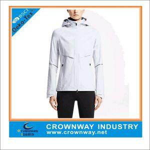 Wholesale Women Waterproof Front Zipper Running Jacket with Front Zipper pictures & photos