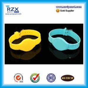 FM1108 13.56MHz Adjustable Silicone RFID Wristband/ Bracelet