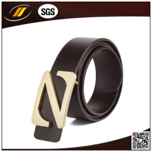 High Quality Real Cow Hide Man′s Leather Belt with Nice Buckle pictures & photos