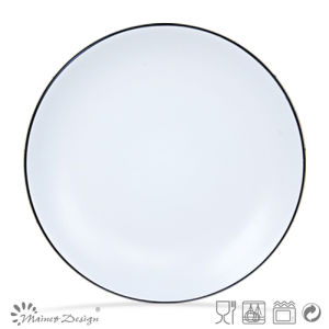 Black Color Ceramic Cheap Promotion Dinner Plate pictures & photos