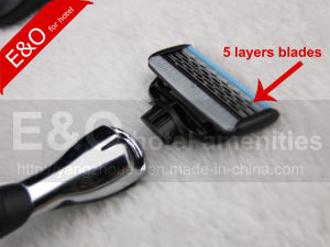 Super Grade Metal Handle 5 Layers Blades Shaver Razor pictures & photos