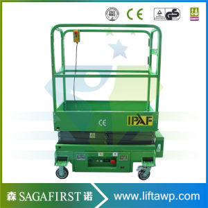 Hydraulic Rail Lift Table Rail Scissor Lift Aerial Working Platform pictures & photos