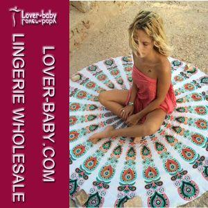 Beach Mandala Round Towel Blanket (L38349-2) pictures & photos