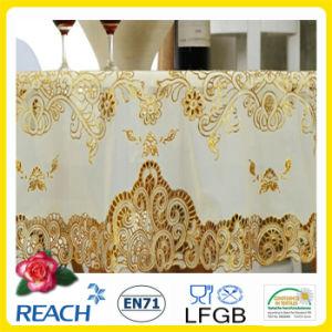 PVC Lace Gold Crochet Tablecloth Round 180cm Wedding/Party Deco. (JFTB-007B) pictures & photos