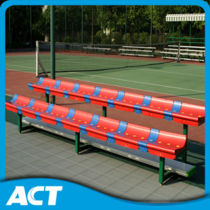 2-Row Portable Gym Bleacher / Sports Bench with Plastic Bleacher Seat pictures & photos