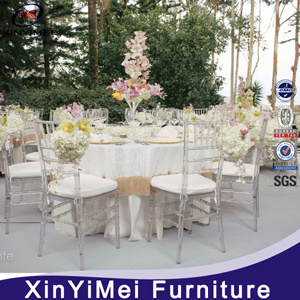 Plastic Transparent Crystal Banquet Wedding Chiavari Tiffany Chair