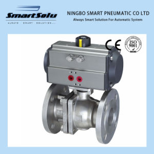 Flanged End Ss Material Pneumatic Actuator Ball Valve (RT serise) pictures & photos