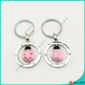 Pink Enamel Lady Beetle Charms Keyrings Wholesale (KR16041914) pictures & photos