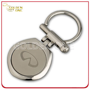 Fashion Style Laser Engraving Nickel Plated Metal Key Holder pictures & photos