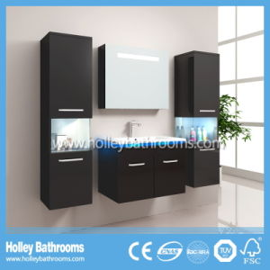 Hot LED Light Touch Switch High-Gloss Paint Modern Bathroom Set (B801D) pictures & photos