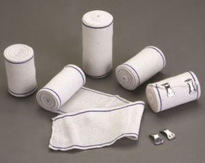 High Quality Blue Thread High Elastic Bandage with CE &ISO pictures & photos
