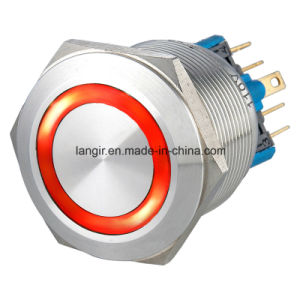 25mm Latching 2no2nc Waterproof Stainless Steel Push Button Switch (Ring Illuminated) pictures & photos
