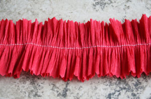Ruffled Vintage Crepe Paper Garland