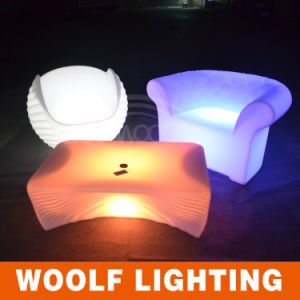 Color Charging Rechargeable LED Outdoor Furnitre LED Sofa pictures & photos