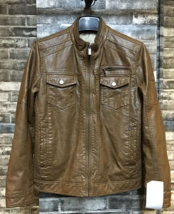 Men Fashion Eco-Friend Windproof Classic PU Leather Jacket (T2-31) pictures & photos