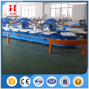 Oval Automatic Screen Printing Machine for T-Shirts with Good Service pictures & photos