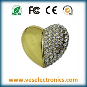 Heart Shaped Jewelry USB Flash Memory pictures & photos