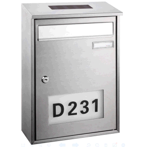 Stainless Steel Square Simple Design Solar Mailbox pictures & photos