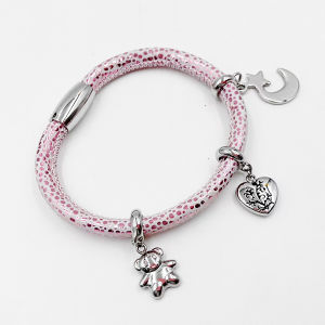 Real Stingray Skin Leather bracelet with Custom Made Charms pictures & photos