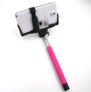 Extendable 3.5mm Cable Monopod Self-Timer Stick Holder+Mirror Wire (OM-S1400s) pictures & photos